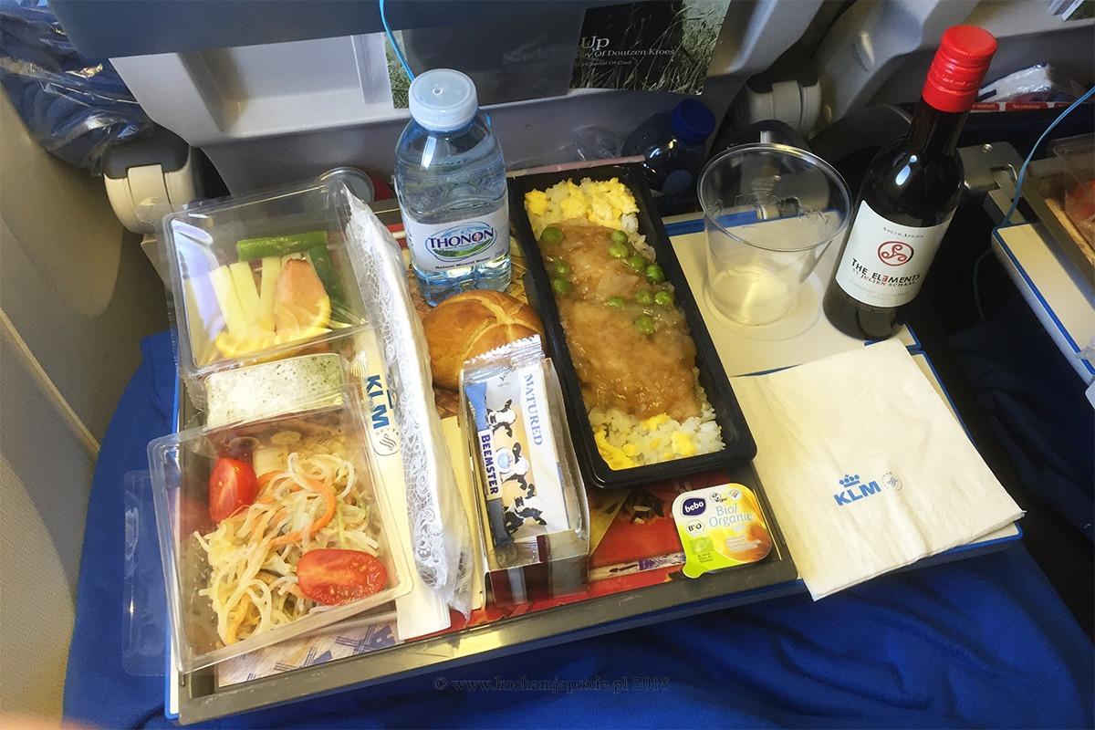 Posiłek w samolocie