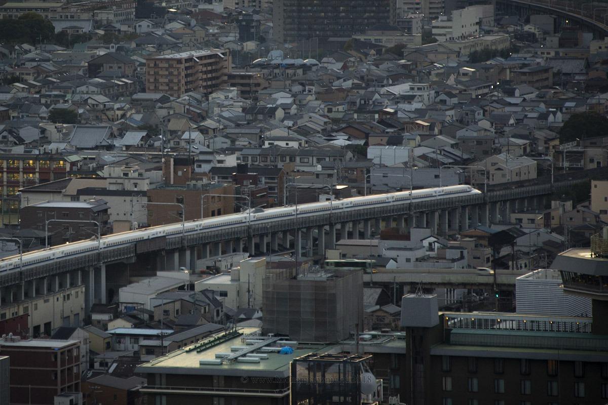 Shinkansen w Kioto