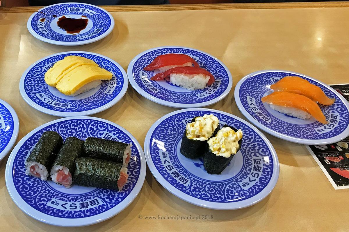 Talerzyki w kaiten sushi