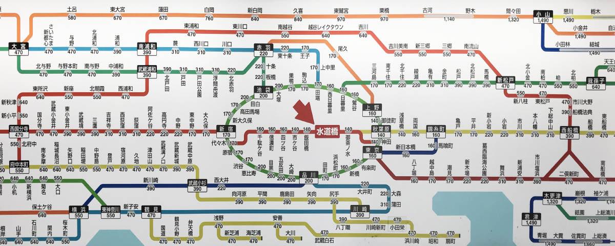 Mapa połączeń Tokyo